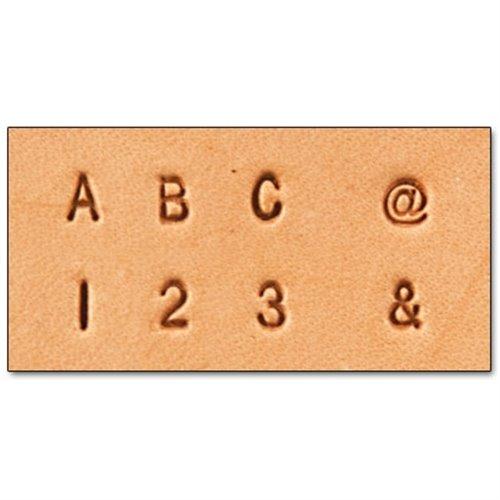 8137-10 Set stante embosare piele LITERE si CIFRE 3 mm.