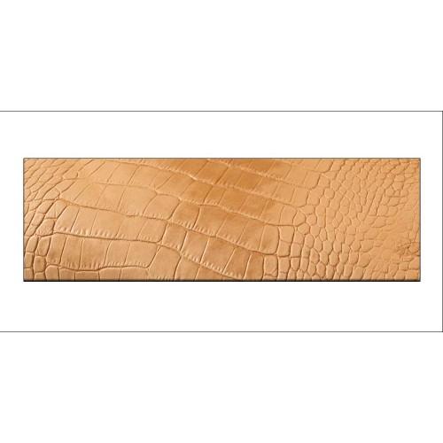 Piele tabacita embosata model sarpe sau crocodil, Tandy Leather
