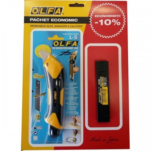 Set L5/LBB-10 - cutter si lame, Olfa