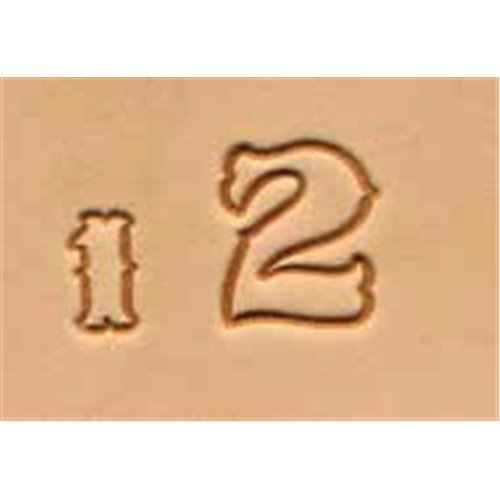 Set stante embosare piele CIFRE de 19mm