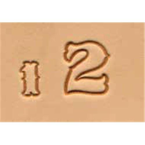 Set stante embosare piele CIFRE de 13mm