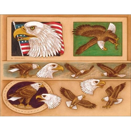 "Sablon pielarie ""Vultur american"" Tandy Leather"