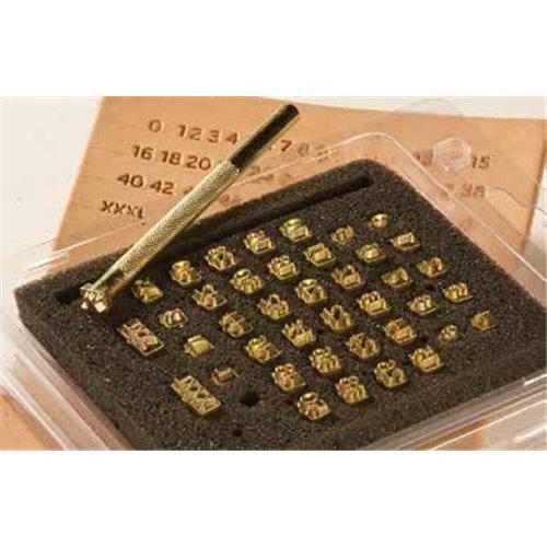 8166-00 Set stante embosare piele litere si cifre masurii.