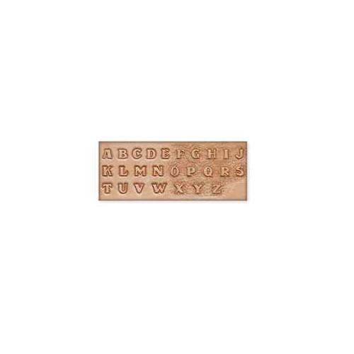 Sablon pentru pielarie, litere mari, 12mm