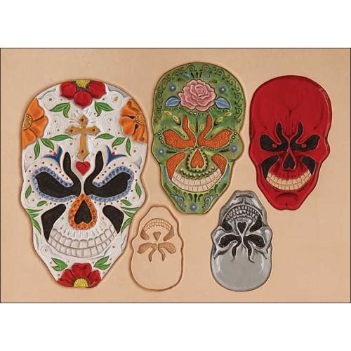 "Sablon pielarie ""Skulls 2"", Tandy Leather SUA"