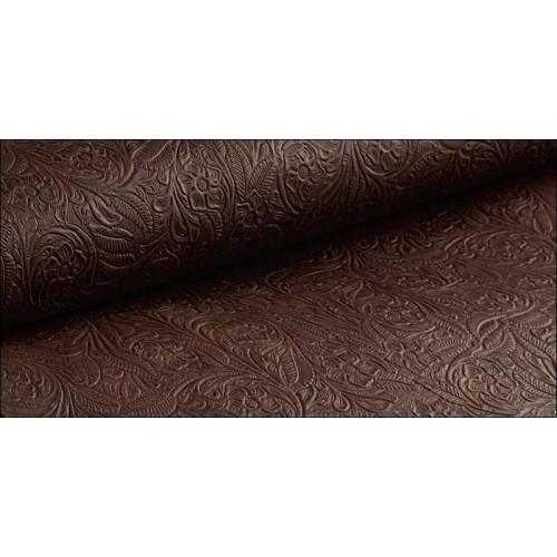 Piele tabacita cu crom si embosata HUNTINGTON, Tandy Leather