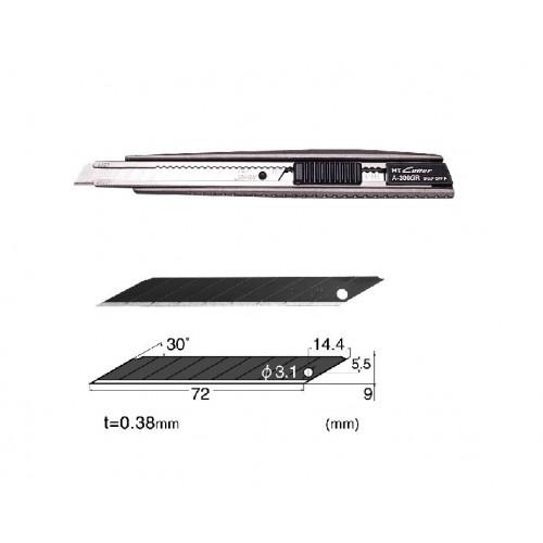 Set Cutter / cutit utilitar metalic mic NT Cutter - 9mm + 10 lame de schimb