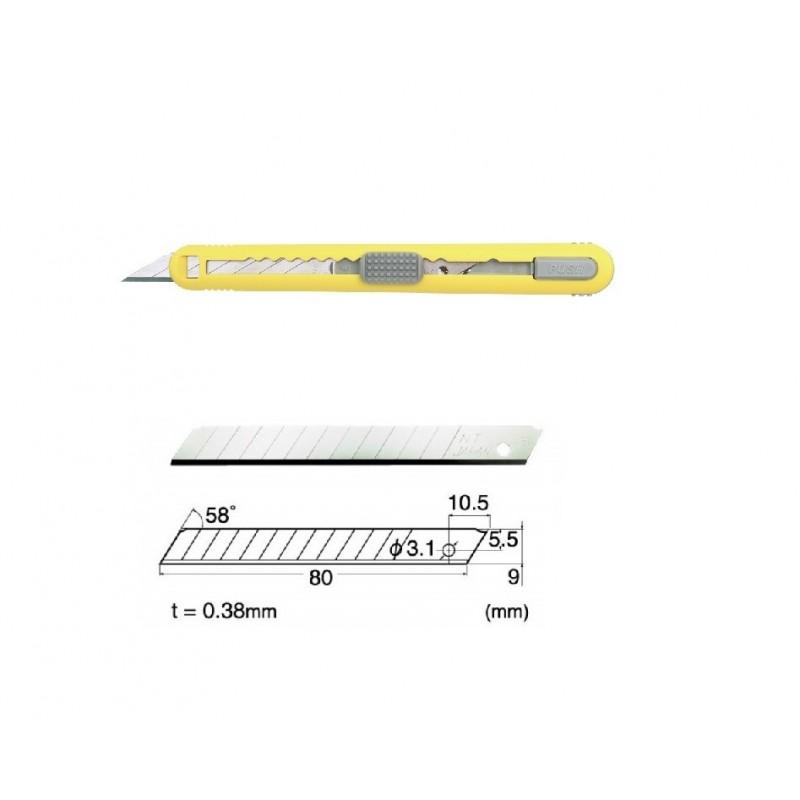 Set Cutter / cutit utilitar mic cu cartus de lame -NT Cutter - 9mm + 10 lame de schimb