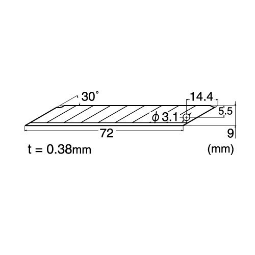 Set 5 lame de precizie pt cutter de tip A, varf 30° - 9mm NT Cutter