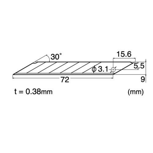Set 100 lame cutter de tip A, varf 30° - 9mm NT Cutter