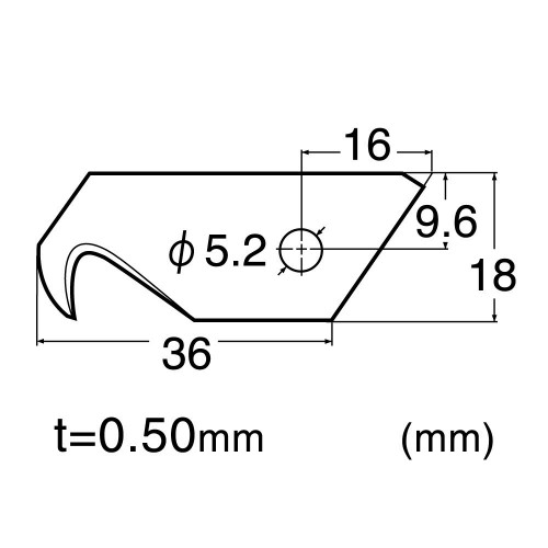 SET 3 LAME CARLIG CUTTER DE TIP DE 18MM NT Cutter