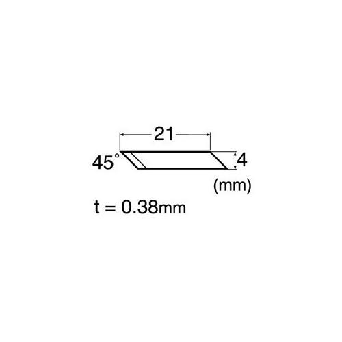 Set 40 lame precizie cu varf la 45° NT Cutter
