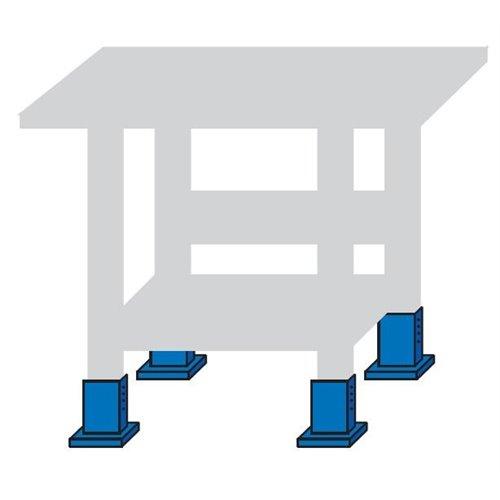 Kit pentru inaltare banc de lucru cu 4 picioruse
