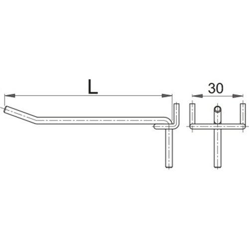 Carlig metalic pentru panou profesional de scule 150 mm Unior