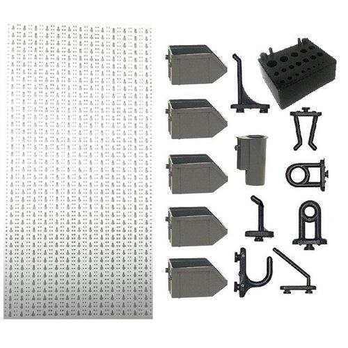 A1-2 Panou perforat vertical alb, 500x1000 mm cu set accesorii