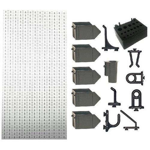 A2-2 Panou perforat vertical alb, 500x1000 mm cu set accesorii