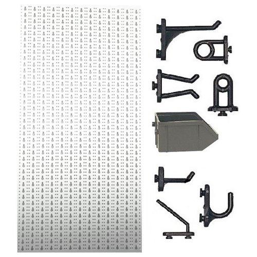 C2-2 Panou perforat vertical alb, 500x1000 mm cu set accesorii