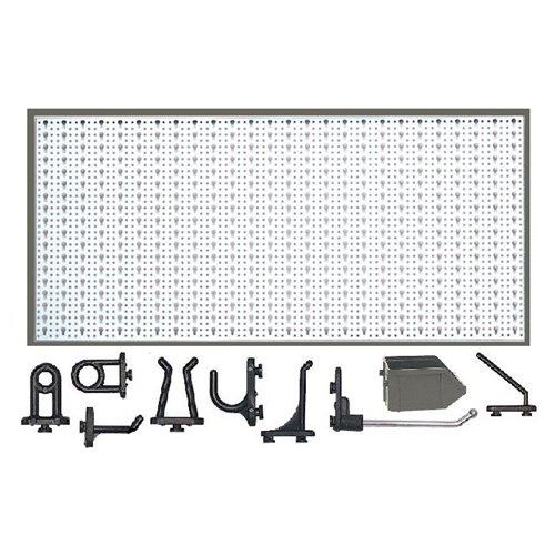 D1-1 Panou perforat orizontal alb, 1000x500 mm cu set accesorii