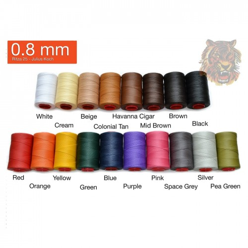 Ata de cusut piele RITZA 25 -Tiger Thread - 50ml - 0.8 mm grosime