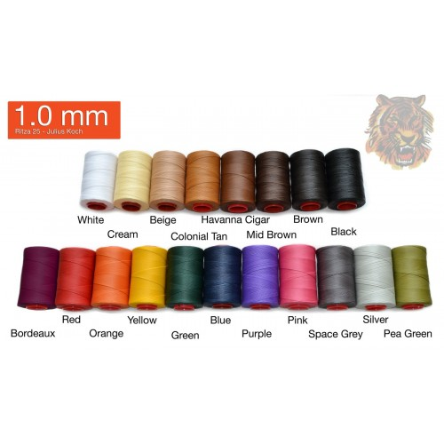 Ata de cusut piele RITZA 25 -Tiger Thread - 500ml - 1.0 mm grosime