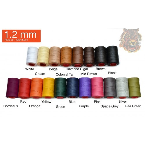 Ata de cusut piele RITZA 25 -Tiger Thread - 500ml - 1.2 mm grosime