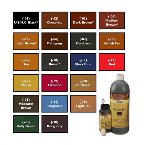 Vopsea pentru piele pe baza de alcool, Fiebing, 946ml