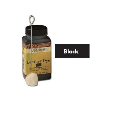 2100-01 Vopsea neagra Fiebing pt piele 118ml