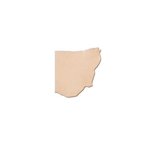 Jumatate canat piele MOALE tabacit vegetal  1.2-1.5mm grosime