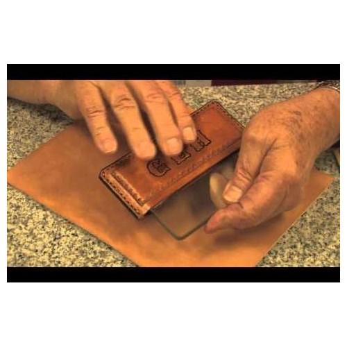 Burnisher pentru piele din sticla, Tandy Leather.