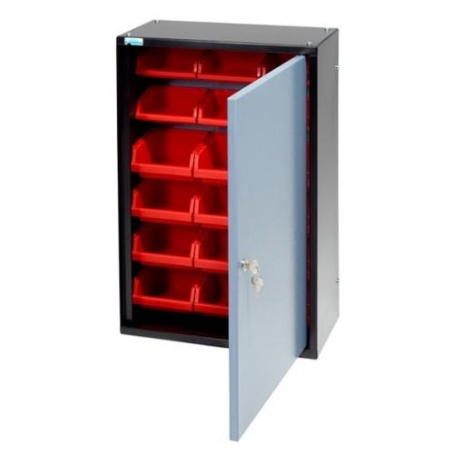 Dulap cutii organizare cu 1 usa si 18 cutii,  400x600x200mm