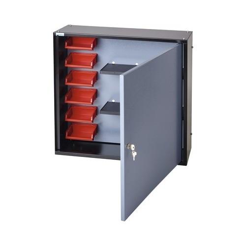 Dulap suspendat 600x600x190 mm, cu 1 usa, 2 polite si 6 casete