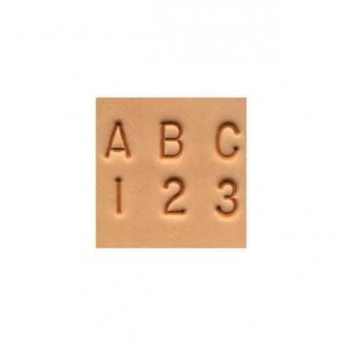 8137-00 Set stante embosare piele litere si cifre 6mm.