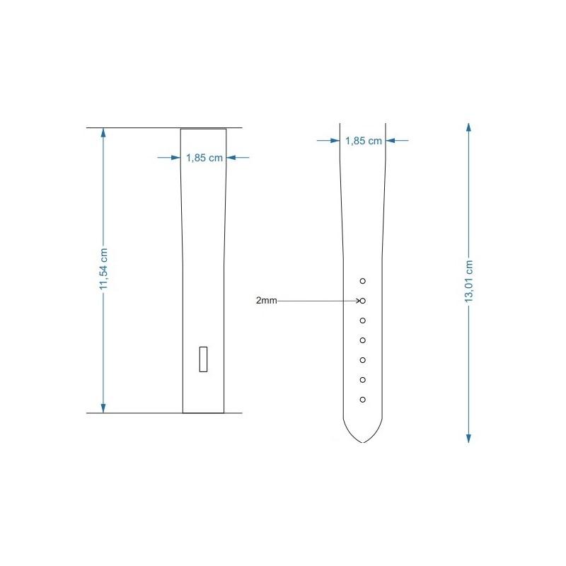 Sabloane taiere pt curele de ceas din piele 18, 20, 22, 24mm latime